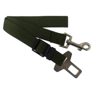 Adjustable Dark Green Dog Car Seat Belt