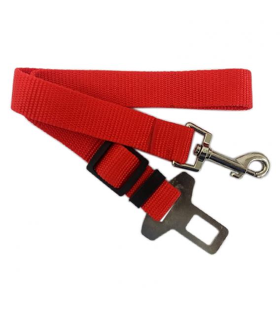 Adjustable Red Dog Car Seat Belt