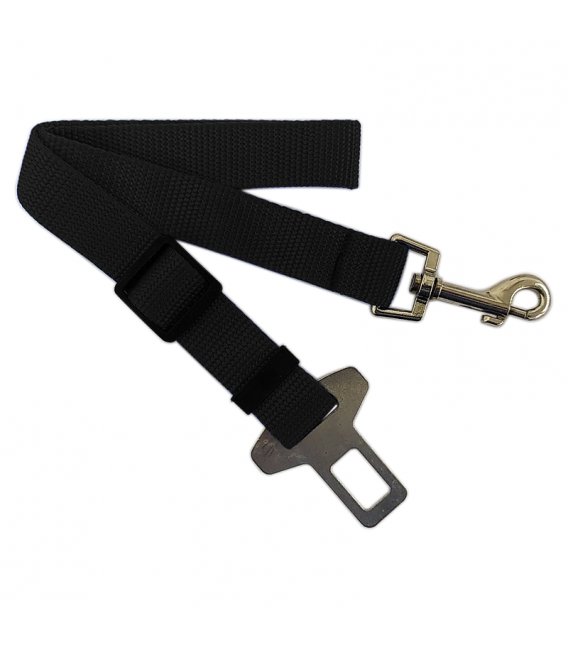 Adjustable Black Dog Car Seat Belt