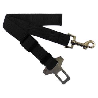 Adjustable Black Dog Car Seat Belt