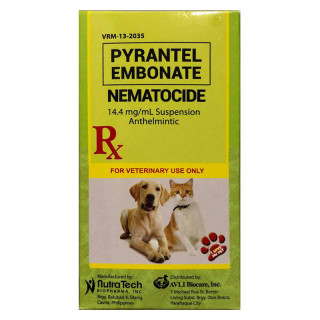 Pyrantel Embonate Nematocide Anthelmintic 60ml Dog and Cat Dewormer