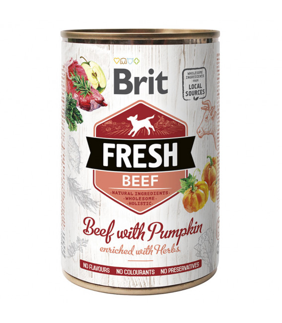 Brit Fresh Beef with Pumpkin 400g Dog Wet Food