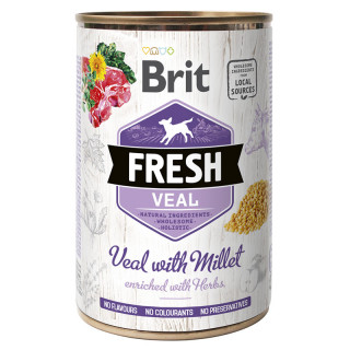 Brit Fresh Veal with Millet 400g Dog Wet Food