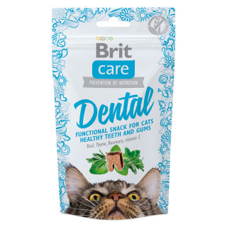 Brit Care Functional Semi-Moist Snack Dental 50g Cat Treats