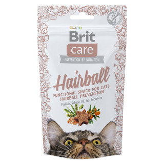 Brit Care Functional Semi-Moist Snack Hairball 50g Cat Treats
