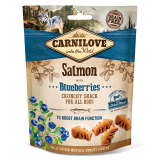 Carnilove Into the Wild Crunchy Snack Salmon with Blueberries 200g Dog Treats