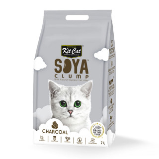 Kit Cat Soya Clump Charcoal 7L Cat Litter