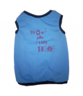 LIMITED EDITION Pawsh Couture QuaranTees Woof From Home Blue Pet Tee