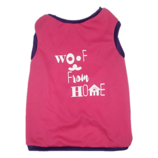LIMITED EDITION Pawsh Couture QuaranTees Woof From Home Pink Pet Tee