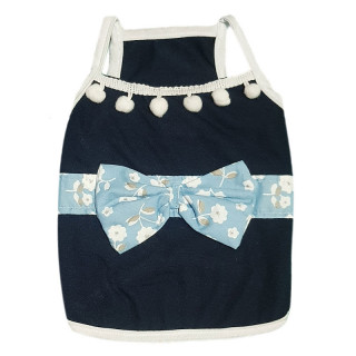 Pawsh Couture Luna Blue Tassel Tank Top Pet Tee