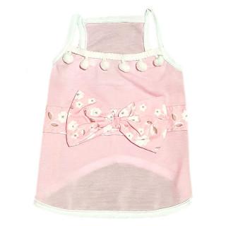 Pawsh Couture Luna Tassel Tank Top Pink Pet Tee
