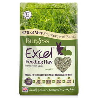 Burgess Excel Dried Fresh Grass 1kg Small Pet Hay