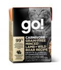 Go! Solutions Carnivore Grain-Free Minced Lamb + Wild Boar Recipe 182g Tetra Pak Cat Wet Food/Toppers
