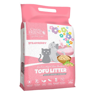 Cindy and Friends Ultra Absorbent Tofu Strawberry 7L Cat Litter