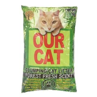 Our Cat Litter Forest Fresh Scent 4kg Cat Litter
