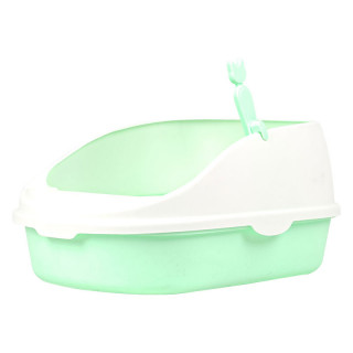 Simple Green High Back Open-Top Cat Litter Box with Scoop