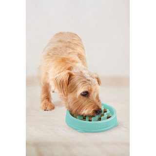 Outward Hound Mint Wave Fun Feeder Small Interactive Dog Bowl
