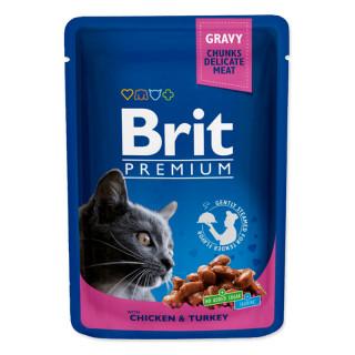 Brit Premium Gravy Chunks with Chicken & Turkey 100g Cat Wet Food
