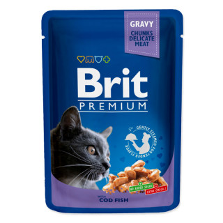 Brit Premium Gravy Chunks with Cod Fish 100g Cat Wet Food