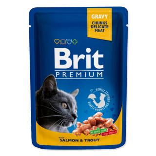 Brit Premium Gravy Chunks with Salmon & Trout 100g Cat Wet Food