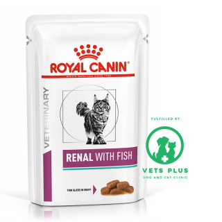 Royal Canin Veterinary Diet RENAL with FISH 85g Cat Wet Food