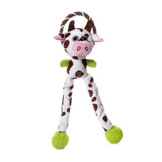 Charming Pet Thunda Tugga Leggy Cow Dog Toy