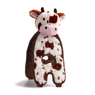 Charming Pet Cuddle Tugs Cow Dog Toy