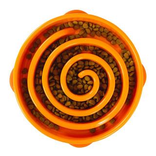 Outward Hound Orange Swirl Fun Feeder Interactive Dog Bowl