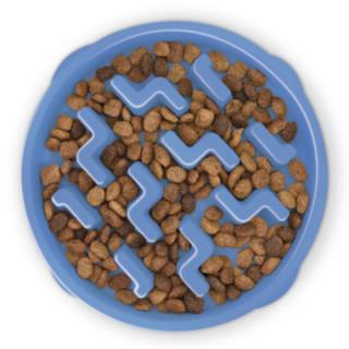Outward Hound Blue Notch Fun Feeder Interactive Dog Bowl