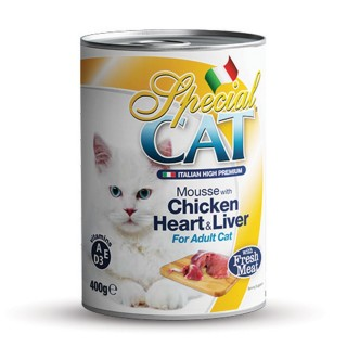 Monge Special Cat Mousse with Chicken Heart & Liver 400g Cat Wet Food
