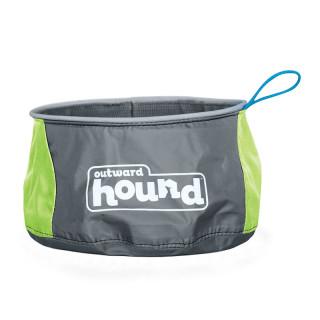 Outward Hound Port A Bowl Green Pet Bowl