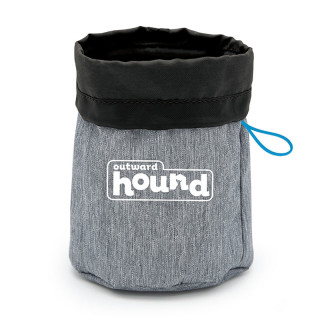 Outward Hound Gray Treat Tote Pet Bag
