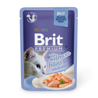 Brit Premium Jelly Fillet with Salmon 85g Cat Wet Food