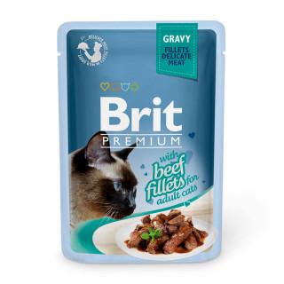 Brit Premium Gravy Fillet with Beef 85g Cat Wet Food