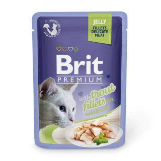 Brit Premium Jelly Fillet with Trout 85g Cat Wet Food