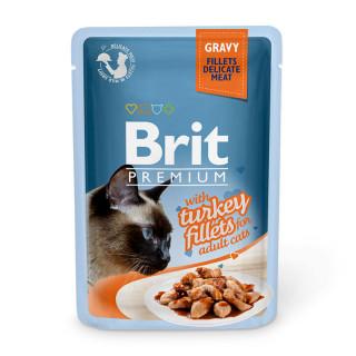 Brit Premium Gravy Fillet with Turkey 85g Cat Wet Food