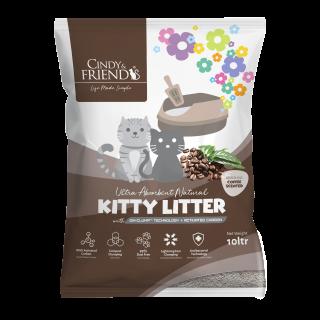 Cindy & Friends Ultra Absorbent Natural Coffee 10L Cat Litter