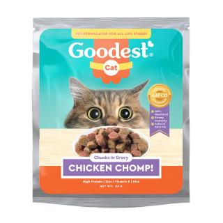 Goodest Cat Chicken Chomp Chunks in Gravy 85g Cat Wet Food