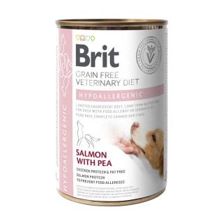 Brit Grain Free Veterinary Diet Hypoallergenic Salmon with Pea 400g Dog Wet Food