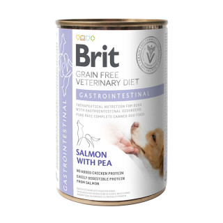 Brit Grain Free Veterinary Diet Gastrointestinal Salmon with Pea 400g Dog Wet Food