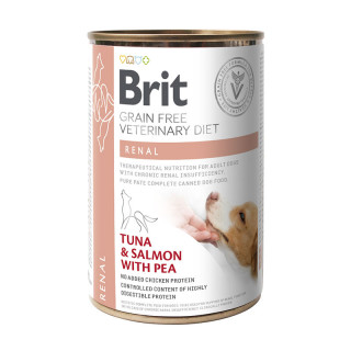 Brit Grain Free Veterinary Diet Renal Tuna & Salmon with Pea 400g Dog Wet Food