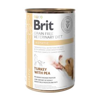 Brit Grain Free Veterinary Diet Hepatic Turkey with Pea 400g Dog Wet Food
