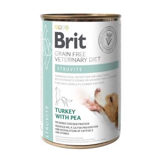 Brit Grain Free Veterinary Diet Struvite Turkey with Pea 400g Dog Wet Food