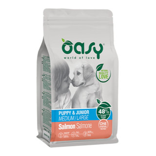 Oasy One Animal Protein Salmon Medium/Large Breed Puppy Dry Food
