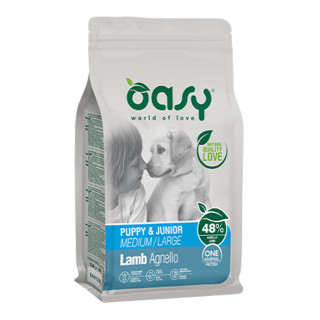 Oasy One Animal Protein Lamb Medium/Large Breed Puppy Dry Food
