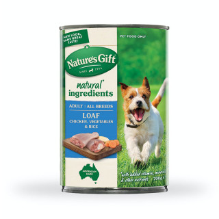 Nature's Gift Meal Time Chicken, Vegetables & Rice 700g Dog Wet Food
