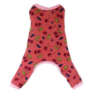 Pawsh Couture Cotton Stretch Onesies Cherries Pet Pajamas
