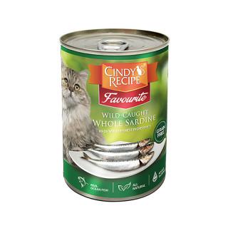 Cindy's Recipe Favourite Wild-Caught Whole Sardine 400g Cat Wet Food