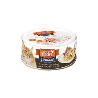 Cindy's Recipe Original Tuna White Meat with Chicken in Broth 80g Cat Wet Food
