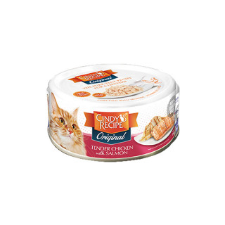 Cindy's Recipe Original Tender Chicken With Salmon 80g Cat Wet Food